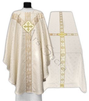 Set of Semi Gothic Chasuble with Funeral Pall FUGY210-25