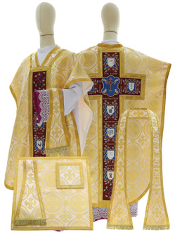 """Silk chasuble """"Passion and Resurrection of Jesus Christ"""" F820-K8"""