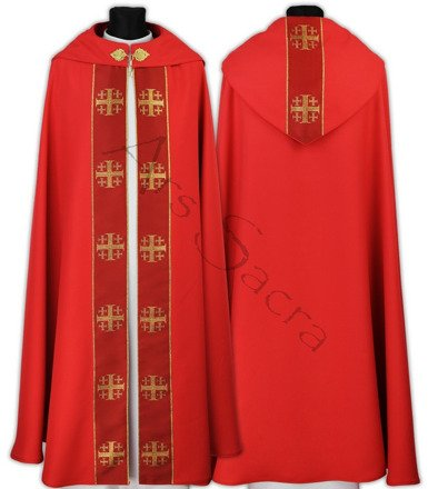 "Gothic Cope ""Jerusalem Crosses"" K103-C"