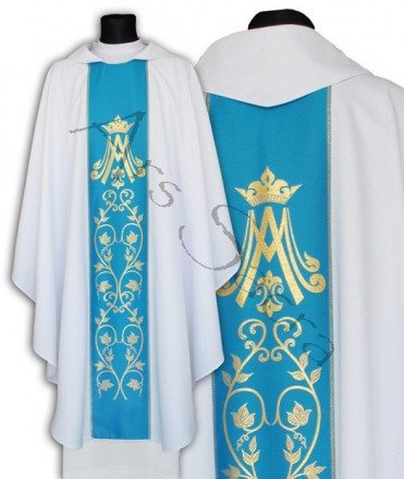 Marian Gothic Chasuble 085-BN
