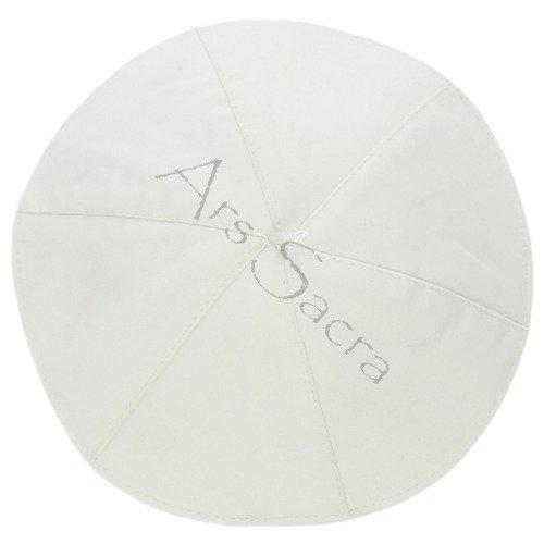 White zucchetto ZU-WHITE