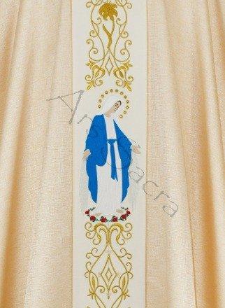 """Chasuble mariale  """"Notre-Dame des Grâces"""" 668-GK54"""