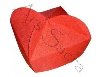 Rotes Birett mit 3 Hörnern B-7