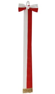Schärpe weiß Rot WSTA-BC-G