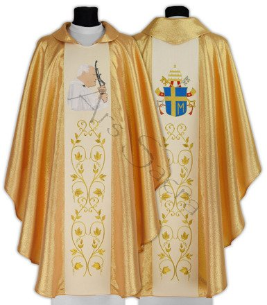 """Gotische Kasel """"Papst Johannes Paul II"""" 568-G"""