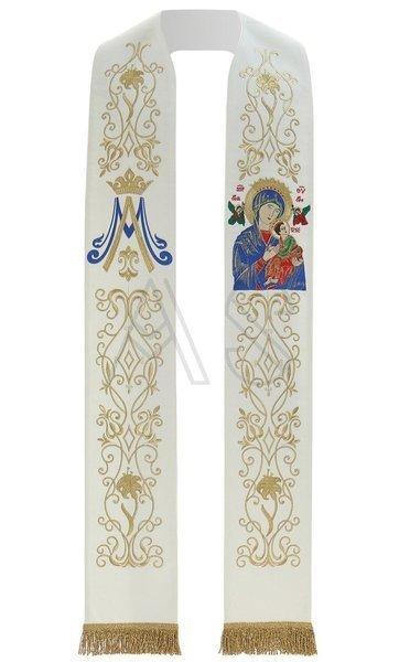 """Gotische Stola """"Unsere Liebe Frau von der immerwährenden Hilfe"""" SH26-K"""