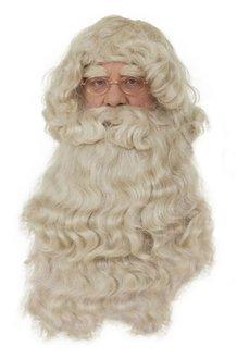 Peruka z brodą Świętego Mikołaja PER2