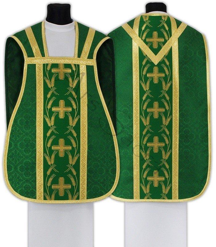 Ornat rzymski R032-Z25 zielony | SZATY LITURGICZNE  Ornaty  Ornaty  Rzymskie | Sklep liturgiczny Ornaty.net
