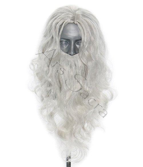 Peruka z brodą Świętego Mikołaja PER
