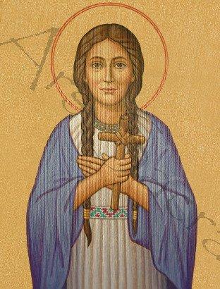 "Casulla gótica ""Santa Catalina Tekakwitha"" 429-G63g"