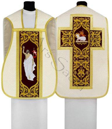 """Casulla romana """"Jesús Resucita"""" R682-AKC25"""